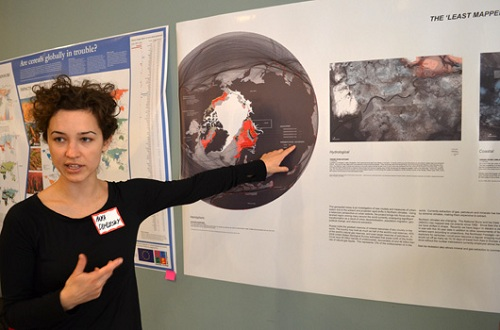 """Anya Domlesky (MLA '14)  presents """"The Least Mapped Place in the World: Urban Present and Projection in an Arctic Watershed."""
