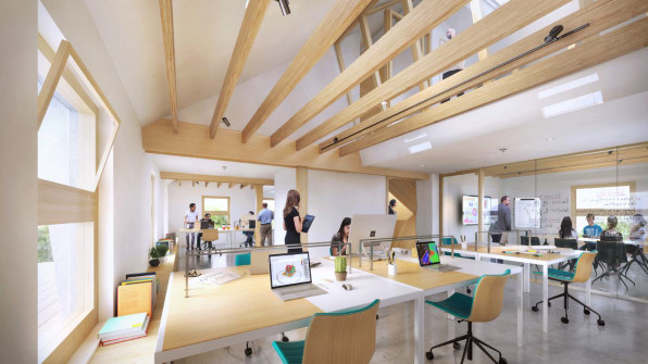 The Harvard Center for Green Buildings and Cities retrofitted a pre-1940s house in Cambridge, MA into an ultra-efficient, healthy, positive energy structure. Photo: Snøhetta/Plompmozes