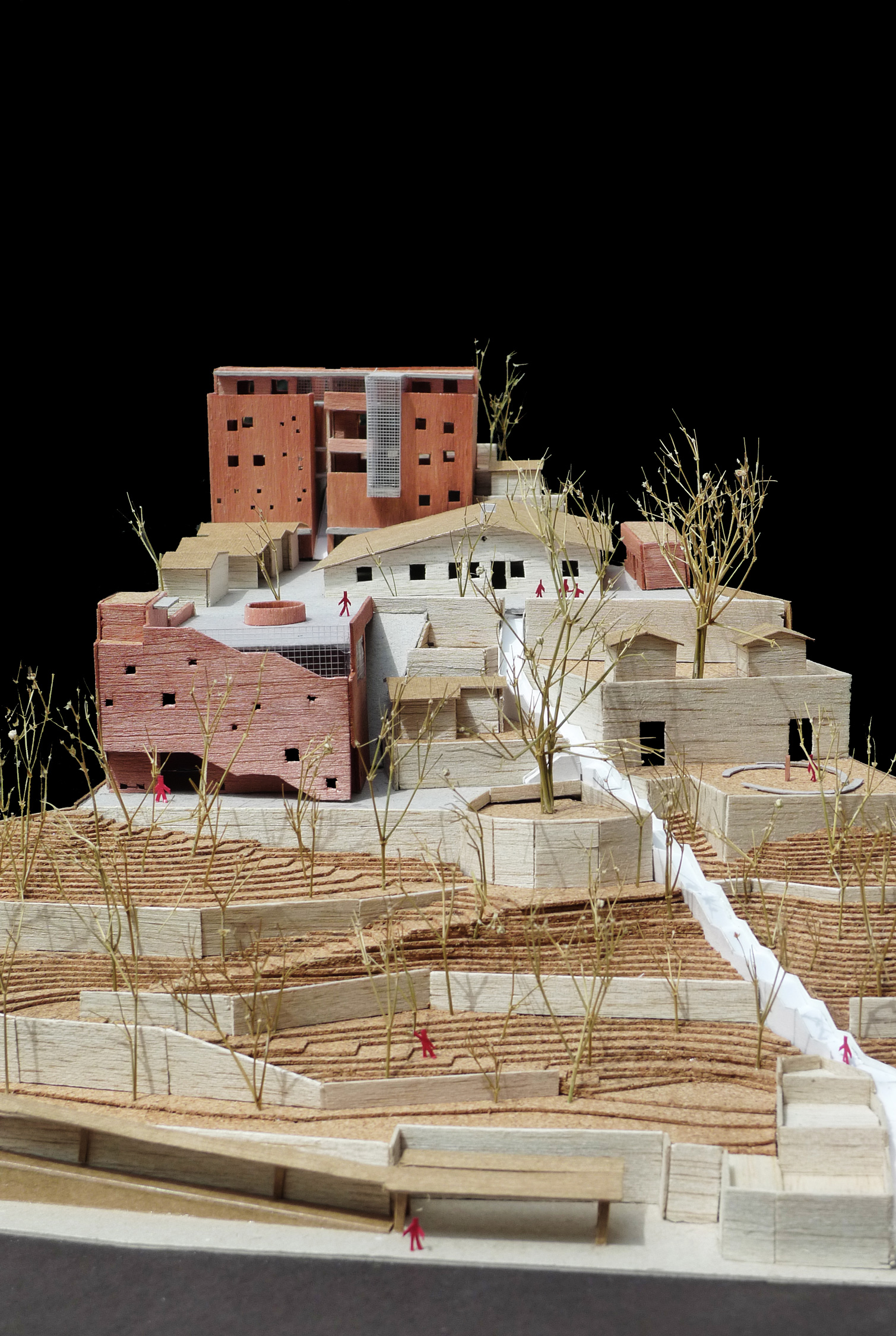 Site and architectural model of proposed scheme, Casa de Oxumarê