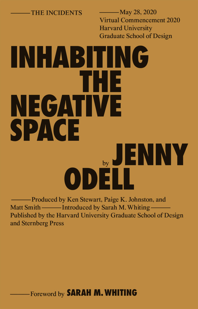 Inhabiting the Negative Space by Jenny Odell