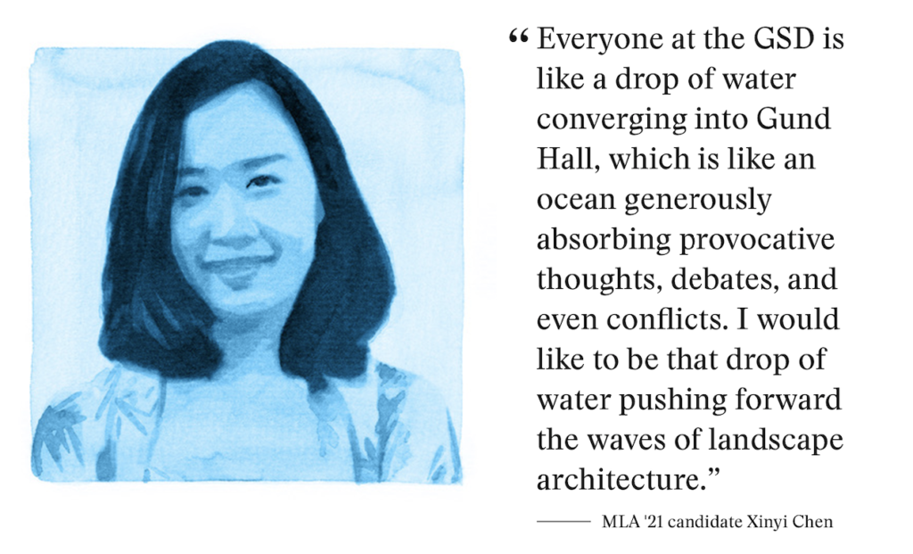 portrait of Xinyi Chen next to the quote: