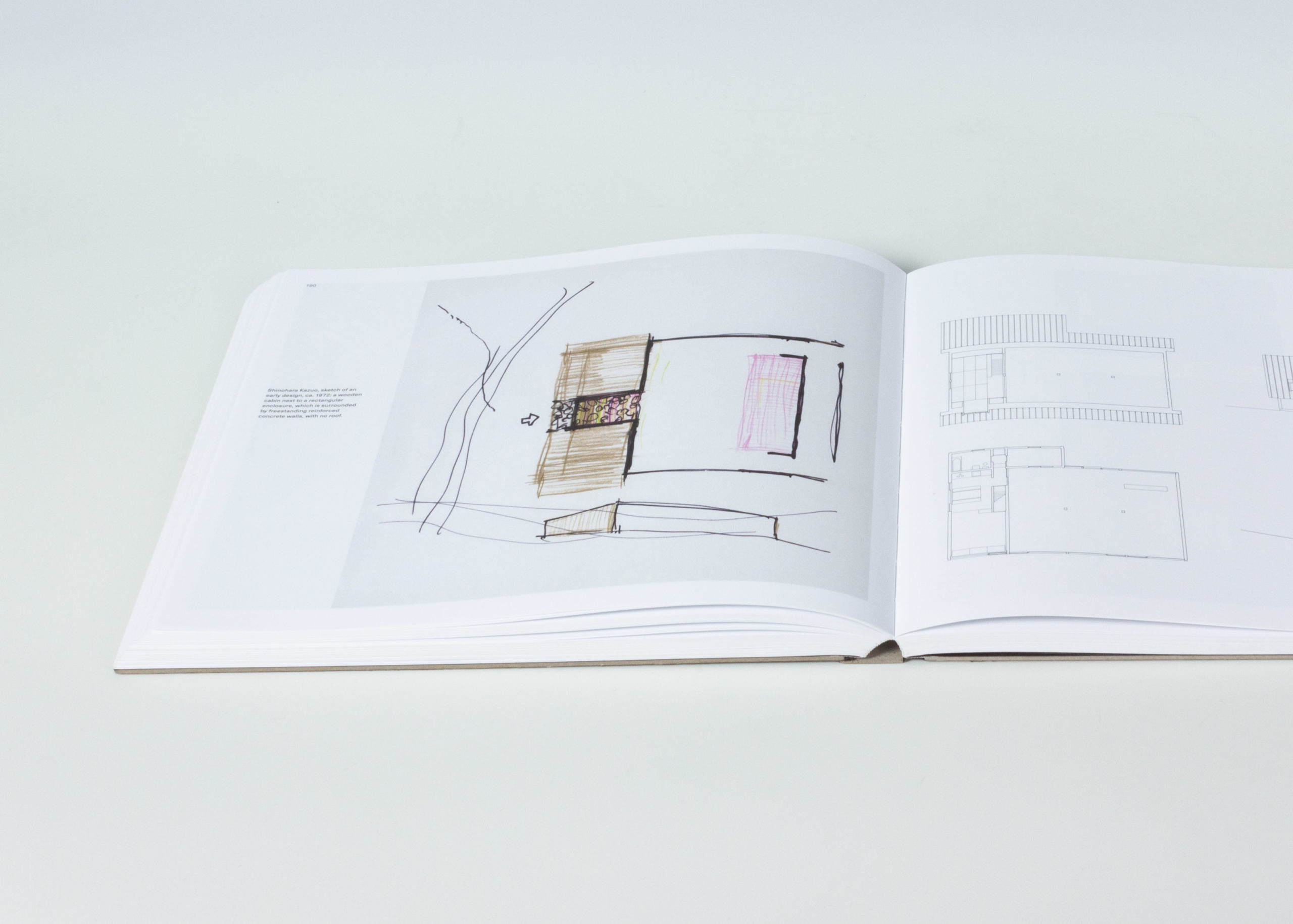 Interior of Kazuo Shinohara: Traversing the House and the City showing drawings and photographs
