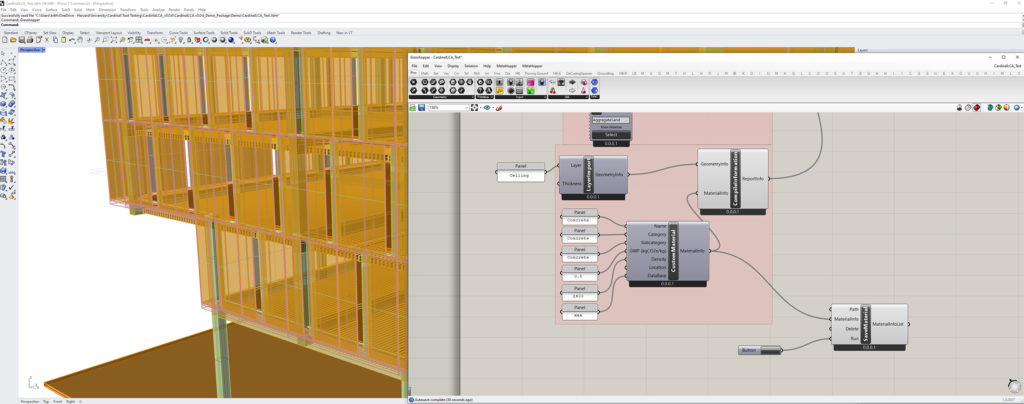 Screenshot of the plugin showing a rendering and systems analysis.